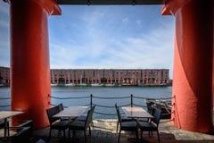 Αποθήκη εμπορευμάτων αποβαθρών του Λίβερπουλ Αλβέρτος Στοκ Εικόνες