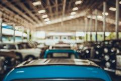 Αποθήκη εμπορευμάτων αυτοκινήτων θαμπάδων Στοκ φωτογραφία με δικαίωμα ελεύθερης χρήσης