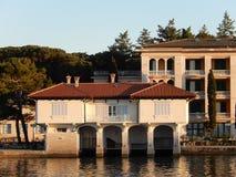 Αποθήκη εμπορευμάτων βαρκών, Brijuni, Κροατία Στοκ Εικόνες