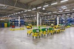 Αποθήκη εμπορευμάτων εργοστασίων αυτοκινήτων Στοκ Φωτογραφία