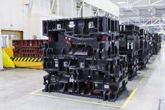 Αποθήκη εμπορευμάτων εργοστασίων αυτοκινήτων Στοκ Φωτογραφίες