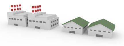 Αποθήκη εμπορευμάτων εργοστασίων ελεύθερη απεικόνιση δικαιώματος