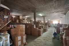 αποθήκη εμπορευμάτων εργοστασίων Στοκ Εικόνα