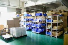 Αποθήκη εμπορευμάτων εργοστασίων Στοκ εικόνα με δικαίωμα ελεύθερης χρήσης