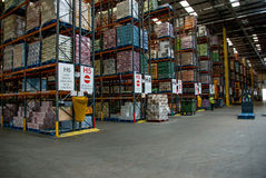 Αποθήκη εμπορευμάτων διανομής τροφίμων Στοκ Φωτογραφία