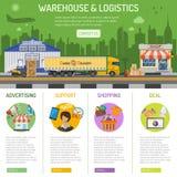Αποθήκη εμπορευμάτων και infographics διοικητικών μεριμνών Στοκ εικόνες με δικαίωμα ελεύθερης χρήσης