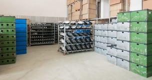 Αποθήκη εμπορευμάτων προβολέων αυτοκινήτων Στοκ Φωτογραφίες