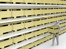 αποθήκη εμπορευμάτων προϊόντων ελεύθερη απεικόνιση δικαιώματος