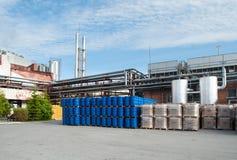 Αποθήκη εμπορευμάτων τελειωμένος - προϊόντα στις εγκαταστάσεις Στοκ Φωτογραφία