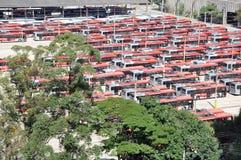 Αποθήκη λεωφορείων πόλεων, Σάο Πάολο, Βραζιλία Στοκ Φωτογραφία