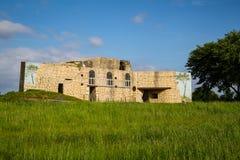 Αποθήκη μπαταριών Azeville Normadia, Γαλλία Γερμανική αμυντική θέση στο δεύτερο παγκόσμιο πόλεμο στοκ εικόνα
