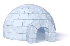 Αποθήκη πάγου παγοκαλυβών στο λευκό