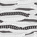 Αποθεμάτων άνευ ραφής σχέδιο κυμάτων doodle γραπτό Απόσπασμα Στοκ Φωτογραφίες