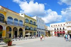 Αποικιακή αρχιτεκτονική στο vieja Habana, παλαιά Αβάνα Στοκ Εικόνα