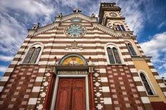 Αποικιακή πρόσοψη εκκλησιών στον Ισημερινό Στοκ Εικόνες