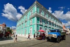 Αποικιακή πόλη Cienfuegos στην Κούβα Στοκ φωτογραφία με δικαίωμα ελεύθερης χρήσης