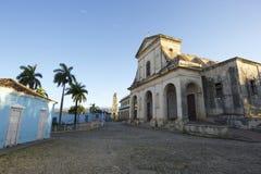 Αποικιακός δήμαρχος Plaza αρχιτεκτονικής του Τρινιδάδ Κούβα Στοκ εικόνες με δικαίωμα ελεύθερης χρήσης