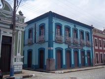 Αποικιακό κτήριο στο ιστορικό κέντρο Iguape, Βραζιλία στοκ εικόνα