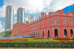 Αποικιακό κτήριο Colombo, Σρι Λάνκα Στοκ εικόνα με δικαίωμα ελεύθερης χρήσης