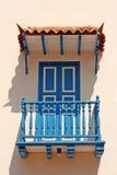 αποικιακό σπίτι λεπτομέρ&epsil Χαρακτηριστικό μπαλκόνι στην Καρχηδόνα de IND Στοκ εικόνες με δικαίωμα ελεύθερης χρήσης