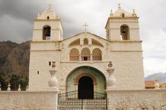 αποικιακό maca Περού colca φαραγγιών churcche Στοκ εικόνα με δικαίωμα ελεύθερης χρήσης