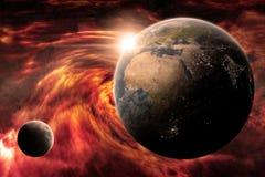 Αποκάλυψη πλανήτη Γη διανυσματική απεικόνιση