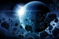 Αποκάλυψη έκρηξης πλανητών διανυσματική απεικόνιση