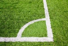 αποκαλούμενο ποδόσφαιρο πεδίων γωνιών Στοκ Εικόνες