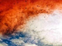 αποκαλυπτικός ουρανός στοκ φωτογραφίες