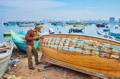 Αποκατάσταση βαρκών, Αλεξάνδρεια, Αίγυπτος στοκ φωτογραφία με δικαίωμα ελεύθερης χρήσης