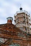 Αποκατάσταση ενός παλαιού ναού Στοκ εικόνα με δικαίωμα ελεύθερης χρήσης