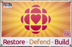 Αποκαταστήστε υπερασπίζει την κατασκευή CBC στοκ εικόνα