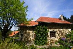 αποκατεστημένη σπίτι πέτρα στοκ φωτογραφίες με δικαίωμα ελεύθερης χρήσης