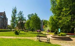 Αποκατεστημένο πάρκο στην οδό Στοκ φωτογραφία με δικαίωμα ελεύθερης χρήσης