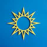 Αποκαλούμενος αστέρι ήλιος. Στοκ φωτογραφία με δικαίωμα ελεύθερης χρήσης