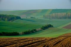Αποκαλούμενο τοπίο Moravian Τοσκάνη, Μοραβία, Δημοκρατία της Τσεχίας Στοκ Φωτογραφίες