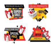Αποκλειστικά προϊόντα, καυτές προσφορές εκπτώσεων πώλησης απεικόνιση αποθεμάτων