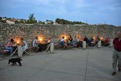 Αποκλειστικό εστιατόριο σε Krk Στοκ Φωτογραφίες