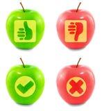 αποκομμένα μήλο σύμβολα Στοκ Φωτογραφία