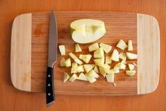 αποκοπή μήλων Στοκ Εικόνες