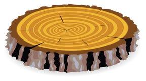 αποκοπή ξύλινη διανυσματική απεικόνιση