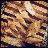 αποκοπή ψωμιού στοκ εικόνα