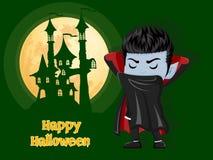αποκριές ευτυχείς Υπόβαθρο με το κάστρο και το φεγγάρι βαμπίρ Dracula Στοκ Φωτογραφίες