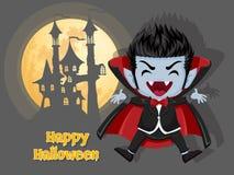 αποκριές ευτυχείς Υπόβαθρο με το κάστρο και το φεγγάρι βαμπίρ Dracula Στοκ φωτογραφία με δικαίωμα ελεύθερης χρήσης