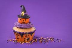 Αποκριές cupcake Στοκ εικόνα με δικαίωμα ελεύθερης χρήσης