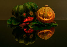 Αποκριές pumpkins_02 Στοκ Εικόνες