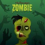 Αποκριές zombie Στοκ φωτογραφία με δικαίωμα ελεύθερης χρήσης