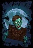 Αποκριών νύχτας φεγγαριών φρικτό bea τεράτων πνευμάτων zombi zombie κακό Στοκ Φωτογραφίες