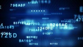 Αποκρυπτογράφηση του μπλε κώδικα ψηφιακών στοιχείων διανυσματική απεικόνιση