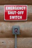 Αποκλεισμένο έκτακτη ανάγκη κουμπί Στοκ Φωτογραφία